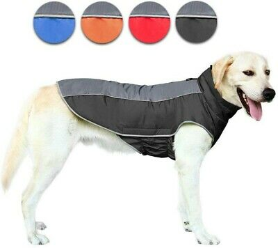 Waterproof Dog Jacket Reflective Large Dog Clothes Soft Coat Winter Warm Outdoor
