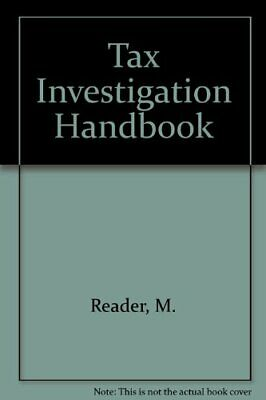 Tax Investigation Handbook by Reader, M. Paperback Book The Fast Free Shipping