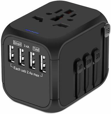 Upgraded Universal Travel Adapter, Castries All-in-one Worldwide Travel Charger