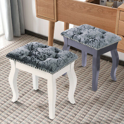 Cushioned Dressing Table Stool Chair Makeup Ottoman Piano Padded Bedroom