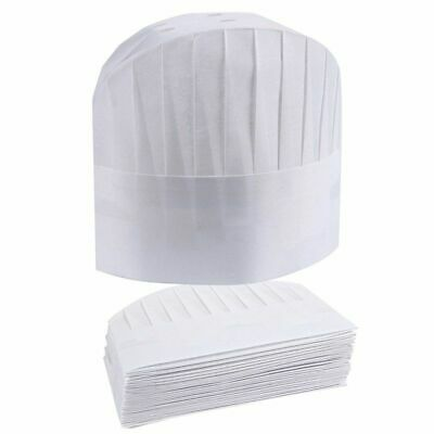 24-Pack Chef Hats Disposable White Paper Chef Toques Kitchen Caps Supplies