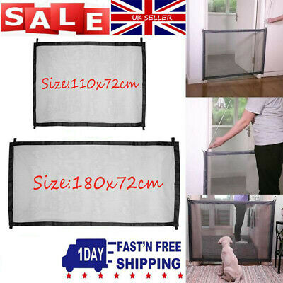 UK✔ Retractable Pet Dog Gate Safety Guard Folding Baby Toddler Stair Isolation