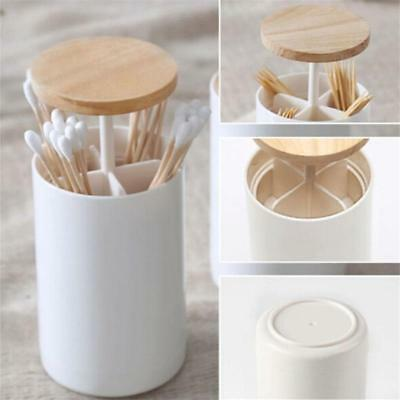1Pc Toothpick Cartridges Wooden Cover Creative Cotton Swabs Boxes for Storage LE