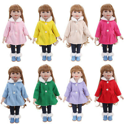 "Sweet Fits 18"" Inch American Girl Doll Clothes Winter Dress Suit Outfit Coat Set"