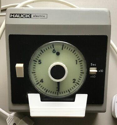 Hauck Electric Seconds & Minutes Darkroom Photographic Darkroom Timer  Germany.