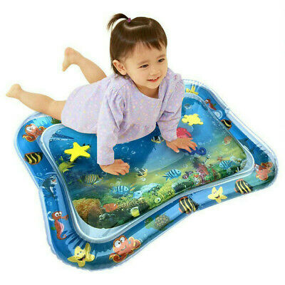 Baby Inflatable Water Play Mats Infants Toddlers Fun Tummy Time Activity Playmat