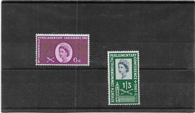 Gb Stamps 1961 Seventh Commonwealth Parliamentary Conference Set Sg.629-630 Mnh