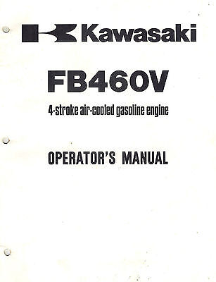 Kawasaki Fb460V  Air Cooled  Engines Operator's  Manual