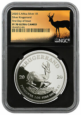2020 South Africa 1 oz Silver Krugerrand Proof R1 NGC PF70 FDI SKU59913