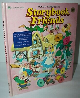 Vintage Walt Disney's Storybook Friends Golden Hardcover Book 1970's