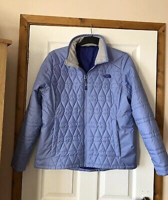 Ladies The North Face Pale Blue Puffer Jacket Size Xl - Padded Coat Fall16
