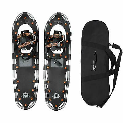 "JUNELILY Pansel 25"" Lightweight Aluminum Snowshoes for Men, Women, Youth + Tote"