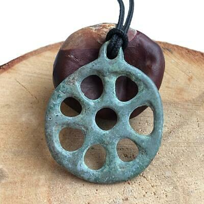 Ancient Celtic Amulet Wheel / Pendant / Nice green patina