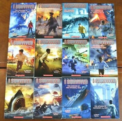 Set of 12 I Survived Series by Lauren Tarshis Epic Disasters AR list history L3