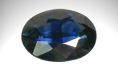 Blue Sapphire Oval 19thC Antique ½ct Gem of Ancient China India Roman Silk Route