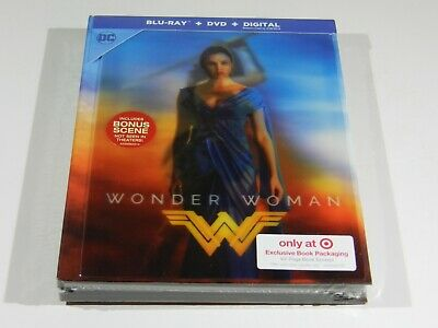 Wonder Woman Blu-ray+DVD+DIGITAL USA LENTICULAR Digibook Ed. TARGET EXCLUSIVE!!!