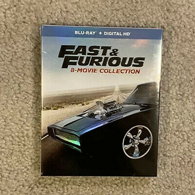 Fast and Furious: 8-Movie Collection (Blu-ray Disc, 2017)