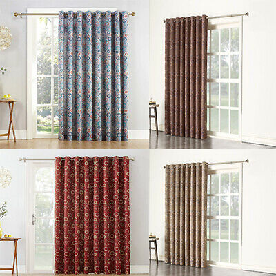 Extra-Wide Thermal Insulated Blackout for Patio Door Curtains