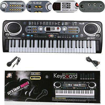 54 Keys  Electronic Electric LCD Keyboard & Microphone For Kids Adult Beginner