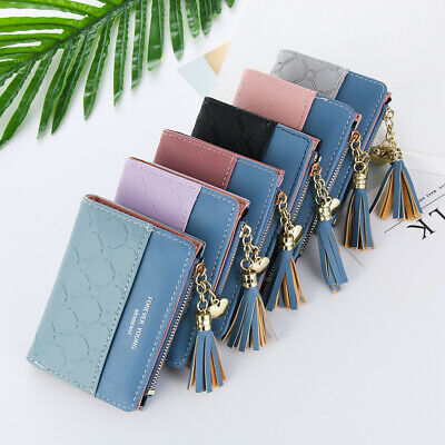 Bifold Women's Fashion Wallet Clip Coin Purse ID Card Holder Leather Wallets