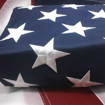 American Outdoor USA Flag 8x12 Ft UV Protected Embroidered Stars Sewn Stripes US