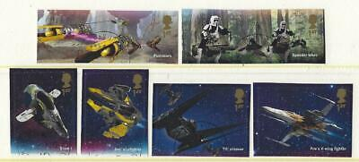 Great Britain 2019 Star Wars Set Of 6 Ex. Miniature Sheet,Fine Used