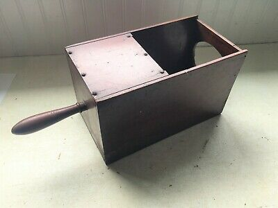 Vtg Wood Ballot Box Voting Marble Fraternal Organization Black Ball