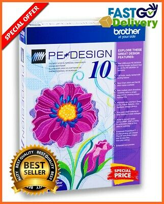 Brother PE Design 10 Embroidery Full Software & Free Gifts ✅ INSTANT DOWNLOAD