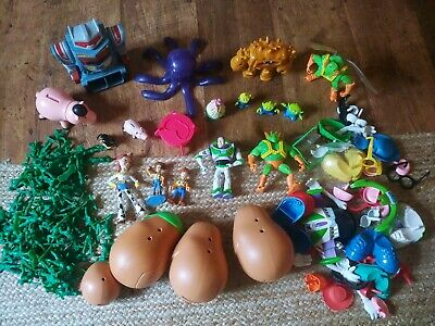 DisneyToy Story Bundle USED . Woody Bo Peep, potato Head Soldiers Buzz Sparks