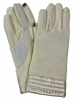 Isotoner Smart Touch Womens Oyster Cream Cuff Tech & Text Gloves Smartouch XL