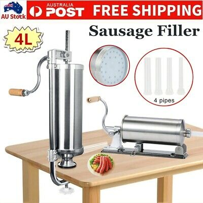 1/3/4L Sausage Filler Stuffer Maker Commercial 304 Stainless Steel Meat Machine