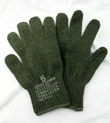 Rothco US Military Issue OD Green Wool Glove Liners - USA Made