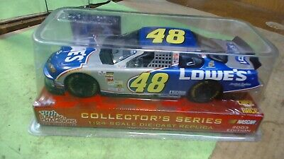 Jimmie Johnson #48-ERTL- Nascar-Chase The Race- Lowes- Diecast Car- Scale 1/24