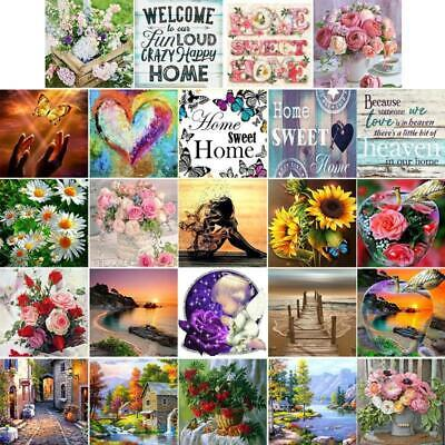 Landscape Flowers DIY 5D Full Drill Diamond Painting Embroidery Cross Stitch Kit