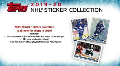 2019-20 Topps NHL Hockey Album Stickers Base or Foil Pick From List 1-200