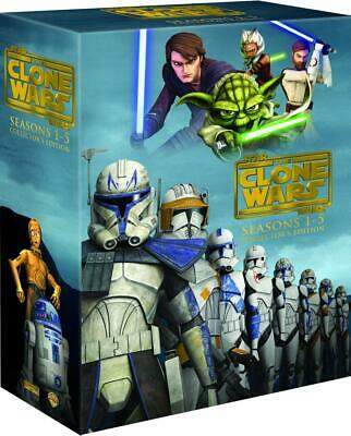 Star Wars: The Clone Wars - The Complete Seasons 1-5 (DVD, 2013, 19-Disc Set)