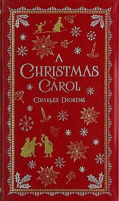 A Christmas Carol by Charles Dickens Leather Book Free Shipping!