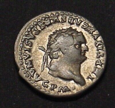 ROME - TITUS (79-81 AD) denarius with throne reverse. Scarce ruler.