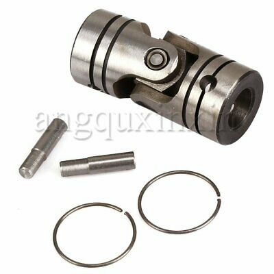 Silver Universal Joint Motor Coupling Shaft Coupler OD23mm x Length52mm