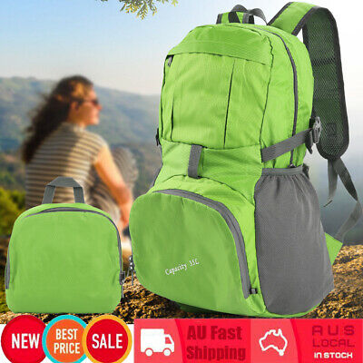 35L Foldable Outdoor Waterproof Hiking Camping Backpack Travel School Bag AU