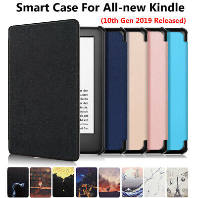 "For Amazon All-New Kindle 10th Generation 2019 6"" Flip Smart Leather Case Cover."
