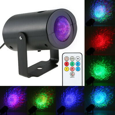 9W RGB 7 Colors Water Wave Lights Projector For KTV Party Club Disco Show AE