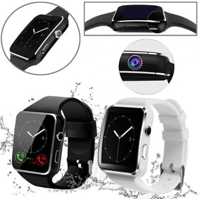 X6 Smart Watch Bluetooth Bracelet Camera Curved Touch Screen For Android Samsung