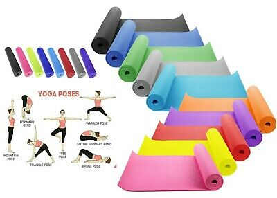 Yoga Mat Thick 6mm 173cm x 61cm Non Slip Exercise/Gym/Camping/Picnic Mat