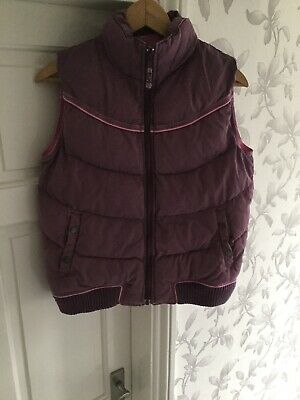 Fat Face Girls Light Purple Gilet BodyWarmer Size 12-13 Years