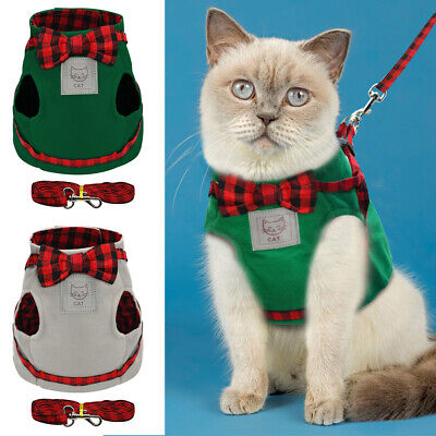 No-pull Dog Cat Harness and Walking Leads Set Adjustable Pet Puppy Jacket Vest