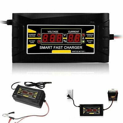 Full Automatic Car Battery Charger 110V/220V To 12V 6A 10A Smart Fast Power