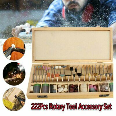 New 222pc Rotary Tool Accessory Bits For Grinding Hobby Drill Tool Set Cutting