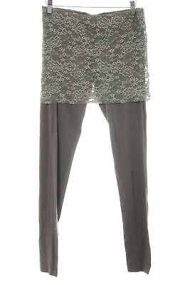 DEHA Leggings graubraun Spitzen-Optik Damen Gr. DE 38 Hose Trousers
