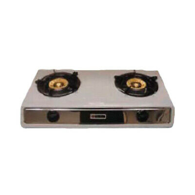 Thunder Group SLST002 Countertop Double Burner Gas Hotplate - LP Only